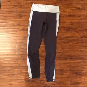 Gray/blue mesh fabletics medium leggings